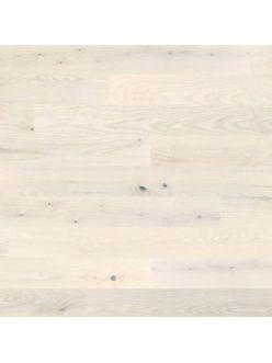 Паркетная доска Grabo Eminence Ясень натур Белый Лак 1 полосный