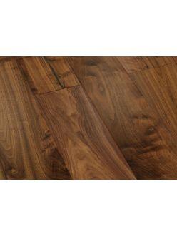 Массивная доска Magestik Floor - Орех Американский Натур под лаком (300-1820)х127х18