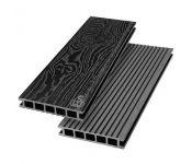 Террасная доска из ДПК Savewood Ornus Тангенциальный распил Черный 3000х144х25 мм