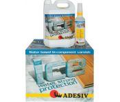 Ice Двухкомпонентный полиуретановый воднодисперсионный паркетный лак, Adesiv